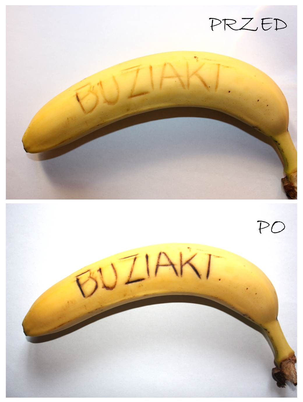 Liściki na bananach