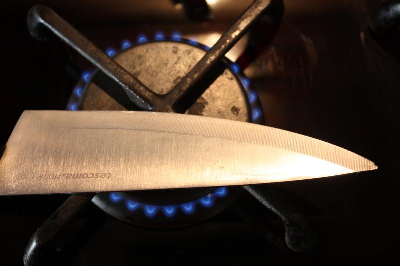 Podgrzewanie noża